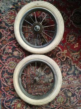 ruedas bici antigua