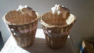 cestas mimbre nuevas