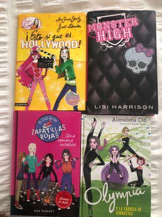Lote 4 libros entre 9 y 15 años niña