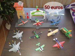 Vendo figuras de aviones