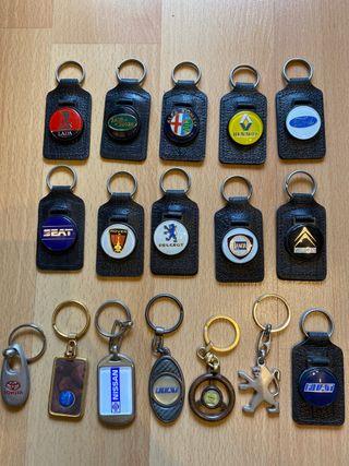 Colección llaveros fabricantes de coches