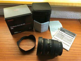 Objetivo Sigma 10-20mm f3.5 (Canon)