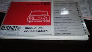 MANUAL DE CONSERVACIÓN RENAULT 8 1.1 AÑO 1967
