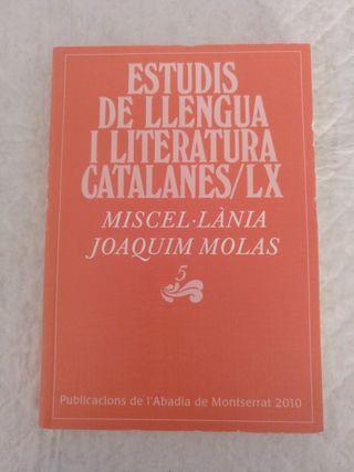 Estudis de llengua i literatura catalanes LX Libro