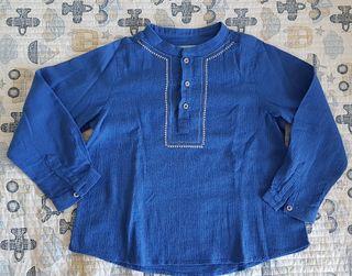 Camisa niño Nanos azulón T5 verano