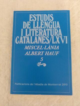 Estudis llengua i literatura catalanes LXVI. Libro