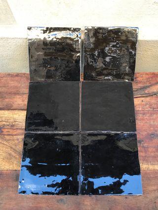Baldosas negras 5 metros cuadrados