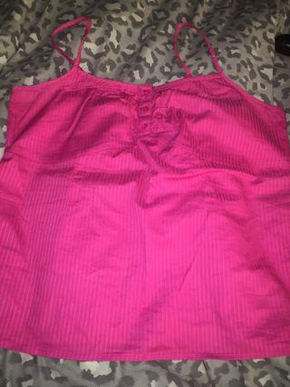 Next Pink Vest Top Size 14.