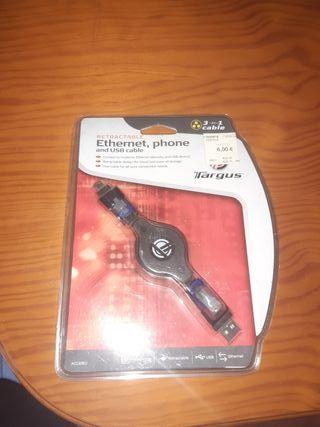 cable retraible usb ethernet 3 en 1