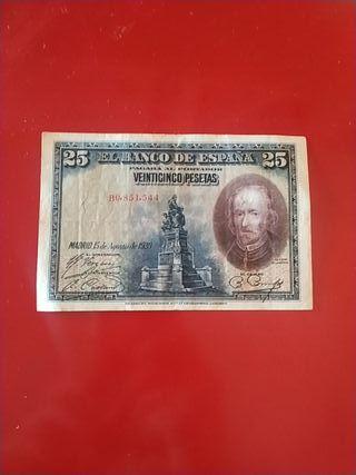 Billete 25 pesetas