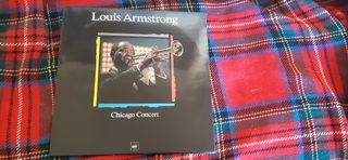 "VINILO LOUIS AMSTRONG ""CHICAGO CONCERT"""
