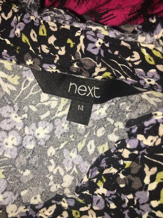 Next Floral Sleeveless Top Size 14