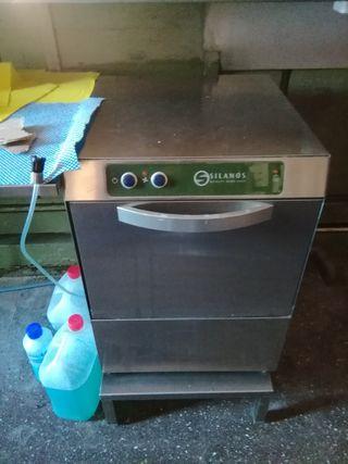 lavavasos industrial silanos 40x40 + soporte