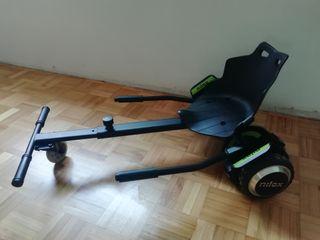 patinete eléctrico Nilox con soporte kart