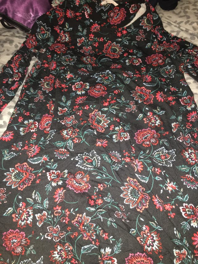 Tu Floral Tunic Top Size 14.