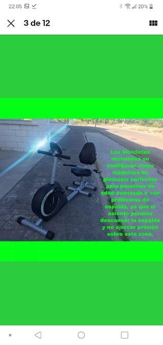 Bicicleta estatica reclinada
