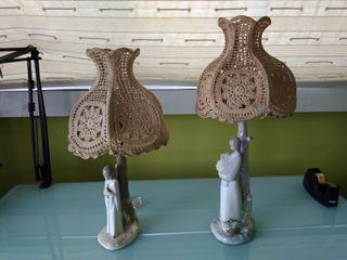 2 Lámparas porcelana