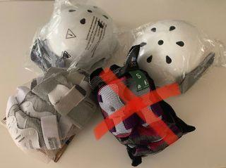 Protecciones y casco skate, roler, patinete