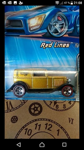 Ford Delivery 1932. Red lines Hot wheels