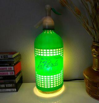 lampara sifon vintage la Perla luz ambiente calida