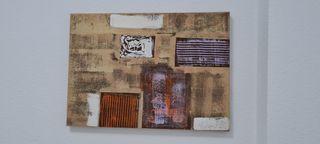 2 lienzos diseño moderno abstractos