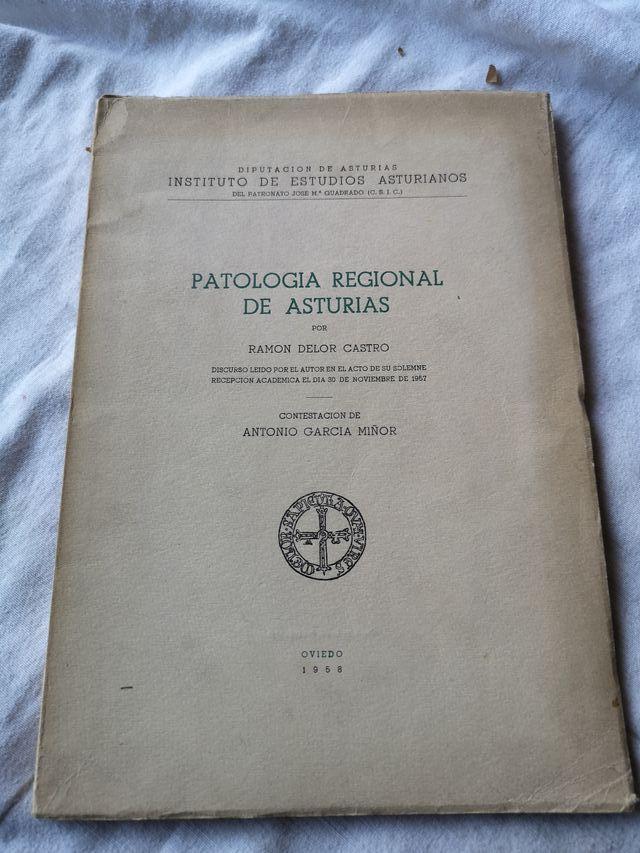 Libro medicina Patología Regional de Asturias 1958