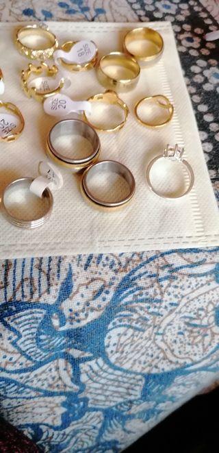lote de anillos.