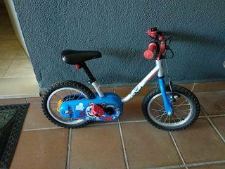 bicicleta niños de 3 a 6 años con ruedines
