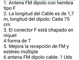 Antena radio Fm Equipo de Música de Casa