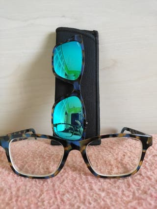 Montura de gafas + imán sol
