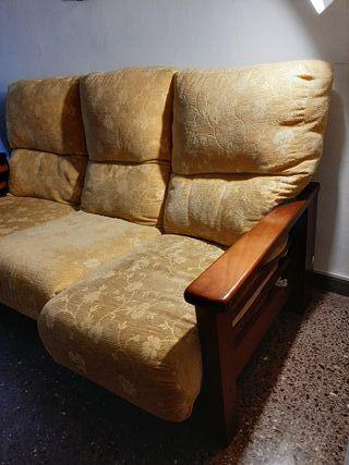 Juego sofá pino