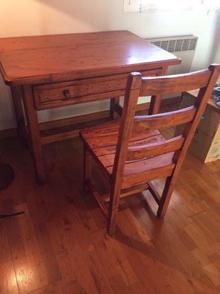Conjunto de mesa y silla mejicana