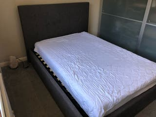 Smoked grey double bed bed frame 4ft6