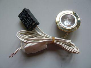 Luz bombilla halógena con interruptor