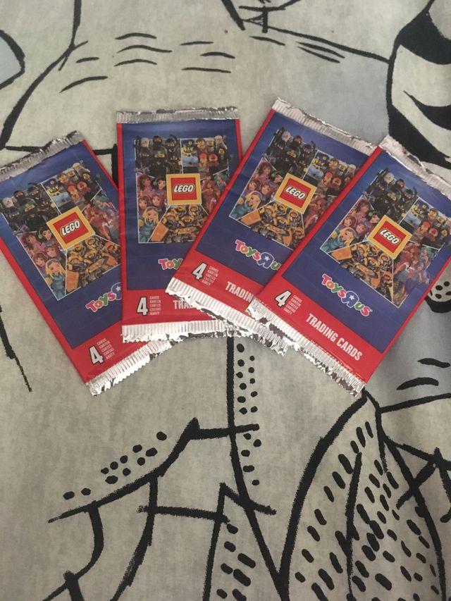 4 sobres de cartas lego sin abrir