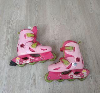 patines en linea niña semi nuevos