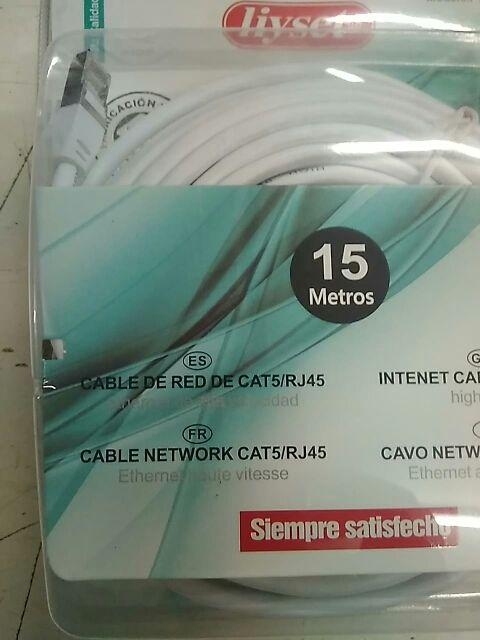 Cable Redes Ethernet 15m con RJ45 CAT6 UTP. PRECIO