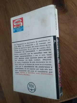 Diccionario de sinonimos y anónimos sopena 1979