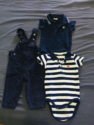 Lote de ropa bebé niño