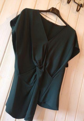 Camiseta/Blusa Zara verde (Talla S).