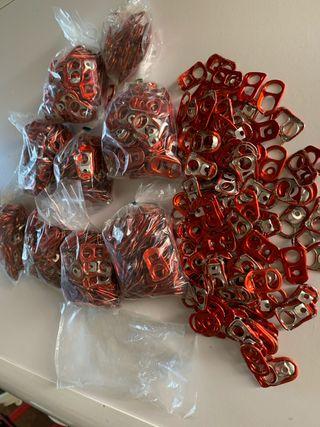 Chapas anillas latas cocacola