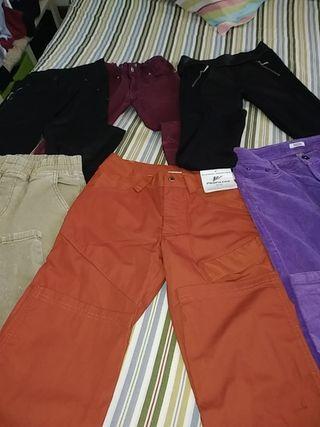 conjunto de 6 pantalones diferentes. 11_12 años.