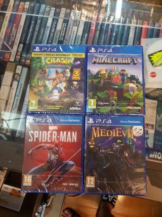 lote PS4 MEDIEVIL + MINECRAFT + MEDIEVIL Y CRASH