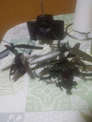 2 helicopteros radio control para piezas
