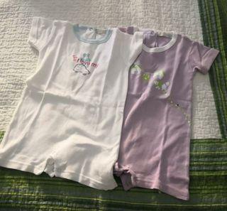 2 pijamas verano bebe 12-18 meses