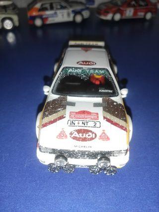 coche scalextric audi quattro rally efecto nieve