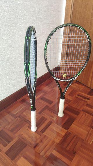 2 Raquetas de tenis Tecnifibre TFlash 300 Dynacore