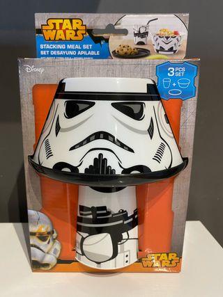 Set desayuno Star Wars stormtrooper apilable