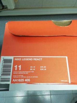 . Nike legend react nuevas a estrenar talla 45