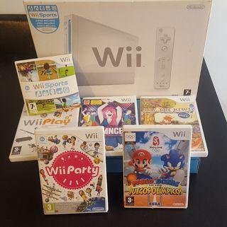 Wii sin mandos con 6 juegos